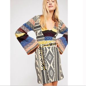 NWT Free People Patchwork Sweater Dress